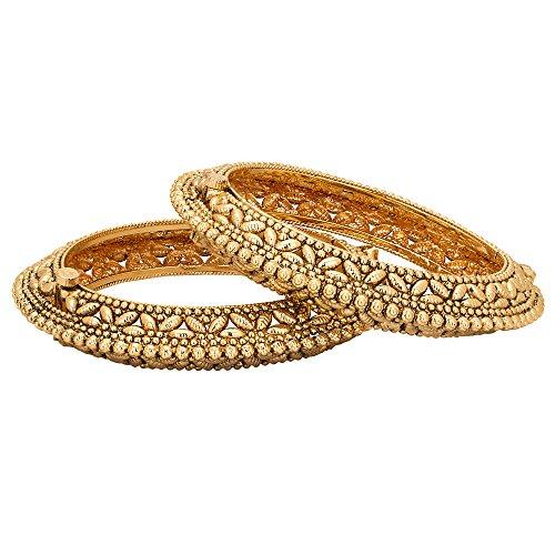 Adwitiya-24k-Gold-Plated-Pure-Antique-Designed-Ethnic-Bangle-Set-For-Womens