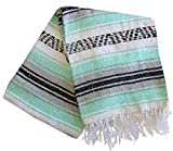 Del Mex Classic Mexican Falsa Blanket Vintage Style (Sea Foam Dream)