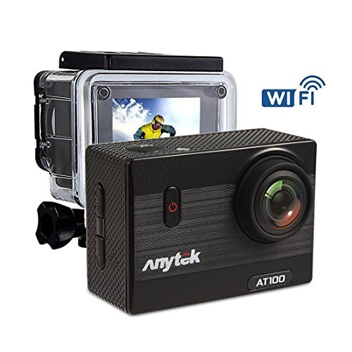 Anytek AT100 4K WiFi Action Camera 16MP 2 Inch LCD Screen Sports Cam Waterproof Diving Camcorder 170° Wide Angle Lens with 1350mAh Battery and Accessories Kit Review