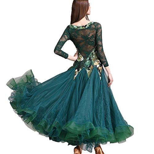 Sala Xl Foxtrot Green Swing Valzer Outfit Da m Di Per Ballo Danza Costumi Vestito Pizzo Tango Wqwlf Donne Grande Spettacolo tqTUfnv