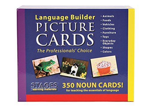 Stages Learning Materials Language Builder Picture Noun Flash Cards Photo Vocabulary Autism