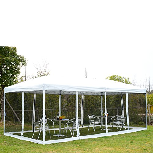 Outdoor Pop Up Canopy Patio Shelter Tent 10' x 20' Cover Lawn Garden Party (Party City South Portland)