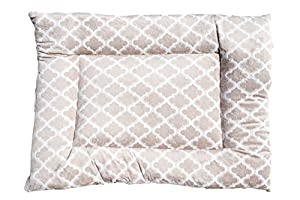 B00NLVJB149DO GoodDogBeds Cuddle Fabric Rectangle Crate Pad, Size 400, Beige Moroccan