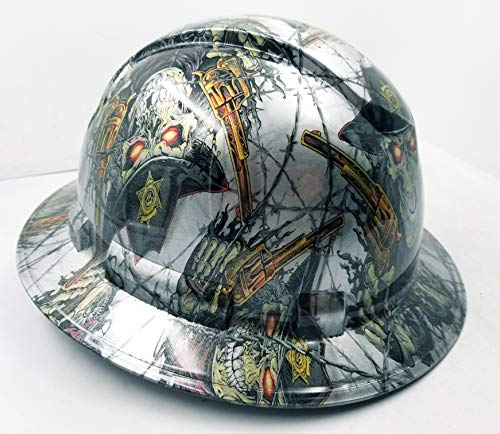 Wet Works Imaging Customized Pyramex Full Brim Dirty Dirty Harry Hard HAT with Ratcheting Suspension Custom LIDS Crazy Sick Construction PPE by Wet Works Imaging (Image #1)