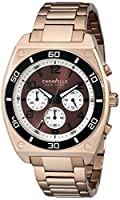 Caravelle New York Men's 45A110 Analog Display Japanese Quartz Rose Gold Watch