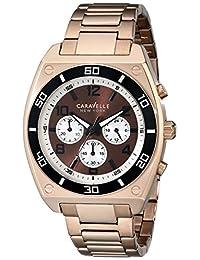 Bulova Caravelle New York Men's 45A110 Analog Display Japanese Quartz Rose Gold Watch
