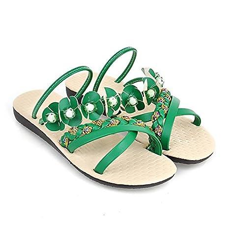 OME&QIUMEI La Jeune Fille Avec Flat Sandals Sandals Student Flats Sandales Orange 38 nujwn