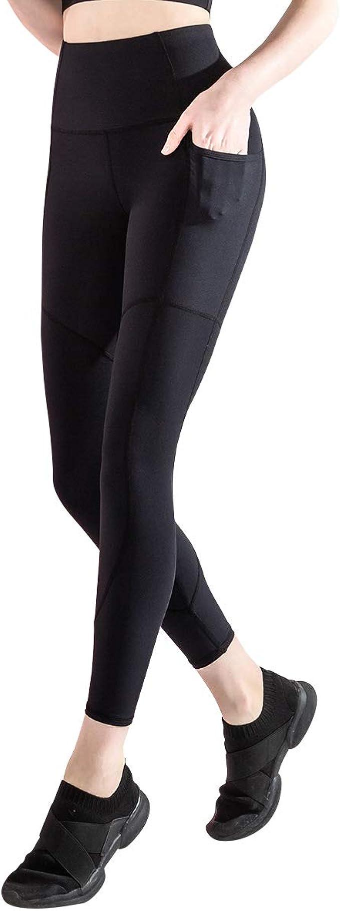 Dizadec Yoga Pants with Pockets,High Waist Yoga Pants with Pockets Workout Yoga Leggings for Women