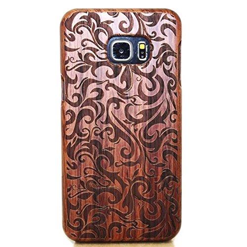 Samsung Galaxy S7 Wooden Caso,Vandot Funda Dura Elegante y Ligera Funda 2-Part Cubierta Caja de Bambú Madera + PC Bumper Híbrido Carcasa de Protector Duro para móvil Samsung Galaxy S7 SM-G930F, Vendim arbol