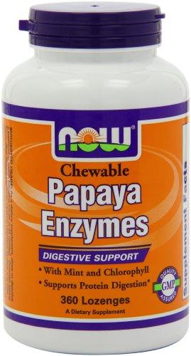 Now Foods enzyme de papaye, 360 Pastilles à croquer