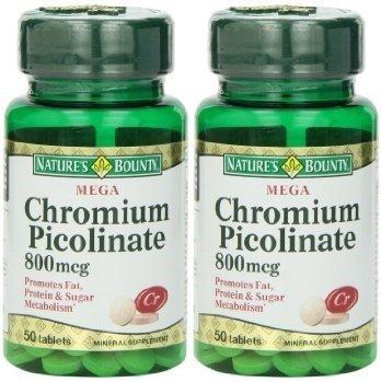 Nature's Bounty Mega Chromium Picolinate 800 Mcg.