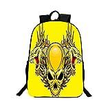 Boomtrader 3D Skeleton Skull School Backpack Travel Bag Laptop Bag for Teens Christma Gift