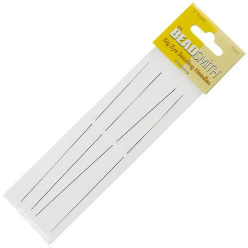 Big Eye Needles Beading (Set Of 4) - Easiest Needle To Thread Beadaholique XTL-3166