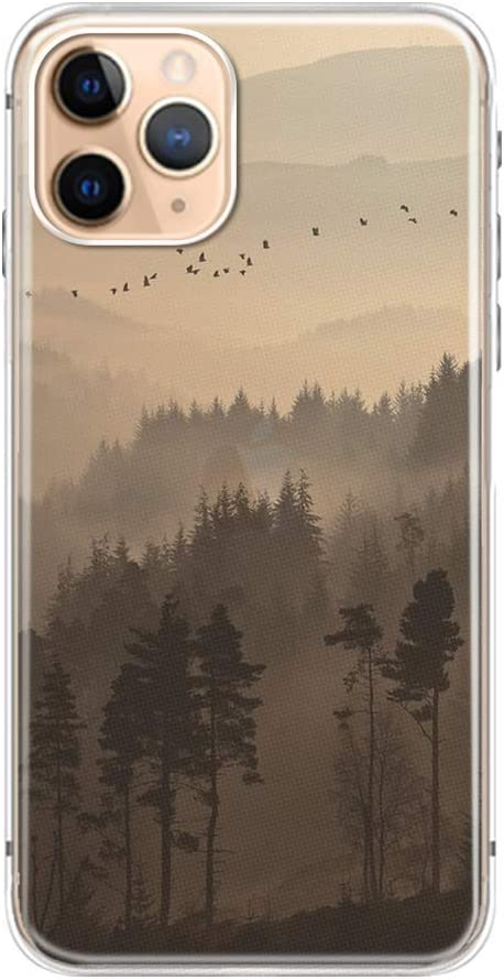 FancyCase Compatible with iPhone 11 Pro-New Forest Style Soft Silicone Protective iPhone 11 Pro Case (Smokey Forest)
