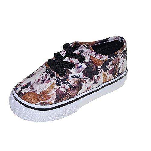Vans Kids' Authentic Canvas Shoes,(ASPCA) Cats,1.5 M Yth