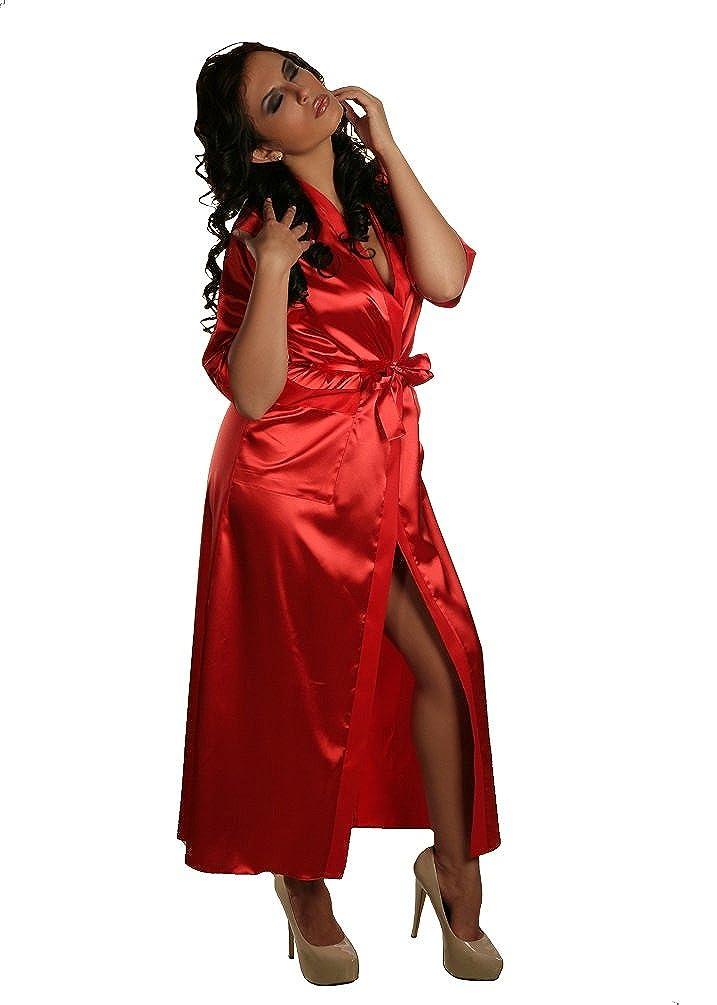 Nine X-Long Satin Dressing Gown S-7XL, 8-28