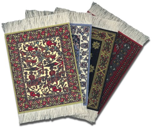 Lextra International Collection CoasterRug, Assorted Colors, Set of Four