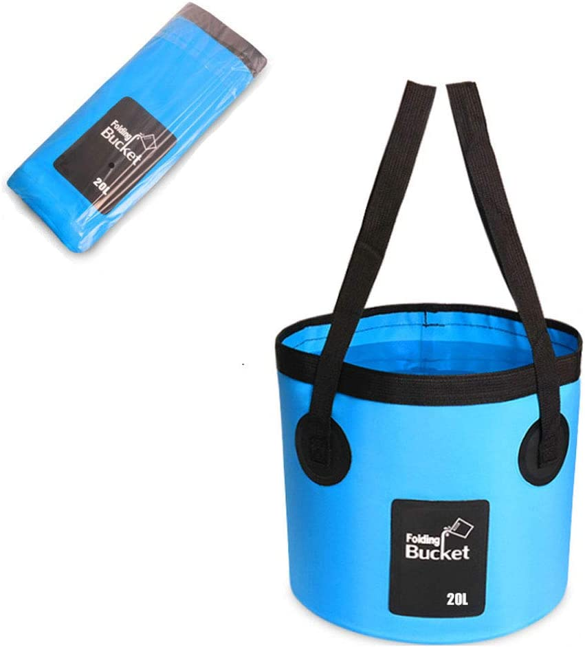 dong+ Camping Water Storage Container 20L Premium Collapsible Bucket Compact Portable Folding Water Container - Lightweight & Durable - for Travelling Camping Hiking Fishing Gardening