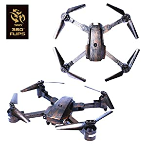 ATTOP XT-PACK 1 Drone with Wifi HD Camera FPV Live Video Cell Phone Control 4 Rotors Folding Quadcopter 2.4G 6 Axis Gyro Fold Remote Control Heli with One Key Take Off Altitude Hold (Bronze) from ATTOP