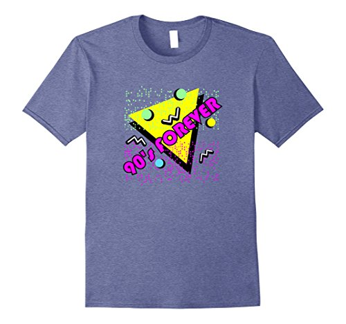 Mens 90s Forever T-Shirt Retro 1990s Vintage Style Tee-Shirt 2XL Heather (90s Men Outfit)