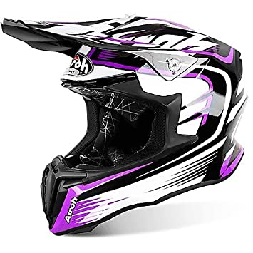 Casco Moto Cross Enduro Airoh Twist Mix rosa brillante Small