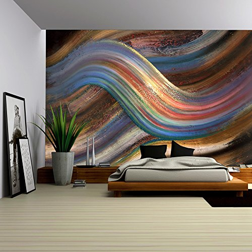 Cheap  wall26 - Abstract Painting Showing a Symbolic Alternating Scenery - Removable Wall..