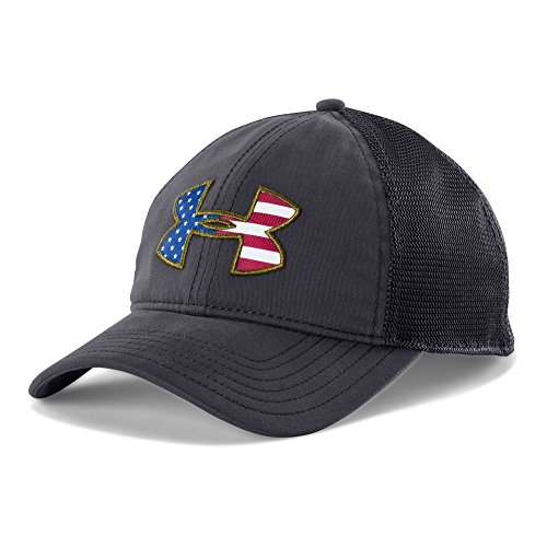 Under Armour UA Big Flag Logo Mesh Cap OSFA Dark Navy Blue