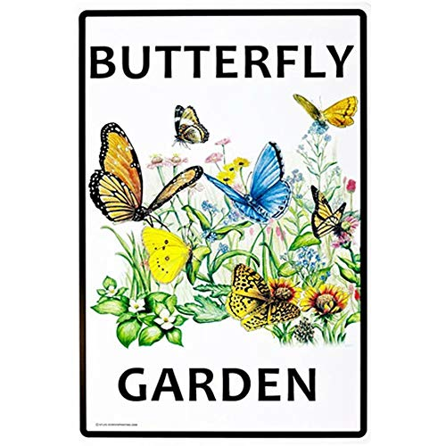 CBTsupply Butterfly Garden Metal Sign and Plaques for Coffe Kitchen Livingroom Tin Wall Poster 30x20cm ()