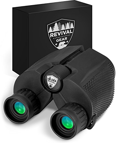 🥇 Powerful Compact Binoculars: Tactical & Durable Set That Everyone Finds Easy to Use. Includes Neck Strap & Travel Case. Used When Hiking
