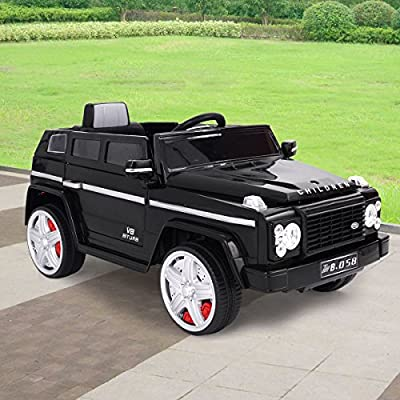 LAZYMOON 12V Kids Ride On Car RC Remote Control Battery Powered Vehicle  Wheels W/ MP3 LED Lights
