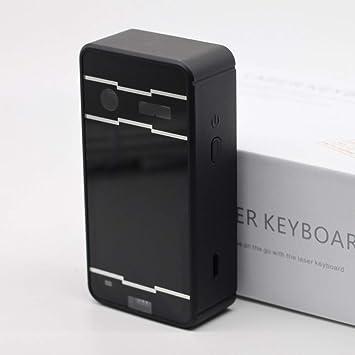 CN Teclado inalámbrico de Bluetooth de la Tableta inalámbrica de Bluetooth del teléfono Celular Virtual con el Teclado de proyección,Negro,1: Amazon.es: ...