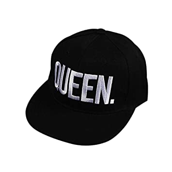 SHASO Gorra de béisbol The King/Queen Letter Printing Pareja ...