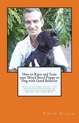 How to Raise and Train your Mixed Breed Puppy or Dog  with Good Behavior: Doobie is a Half Black Pug & Half Cocker Spaniel Dog