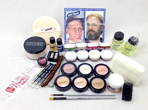 [Student Theatrical Makeup Kit - Deluxe - Light/Fair] (Special Effects Makeup Kit)