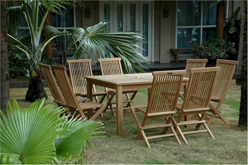 Anderson Teak Set-104B - Dupione Paradise Classic Folding Chair & 47