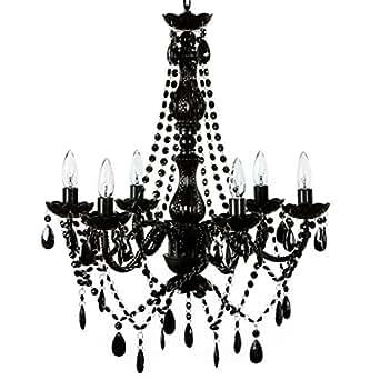 The original gypsy color 6 light large black chandelier h26 w22 the original gypsy color 6 light large black chandelier h26 w22 black metal frame with aloadofball Choice Image