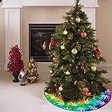 AHOOCUSTOM Merry Christmas Rainbow Tie Dye Tree