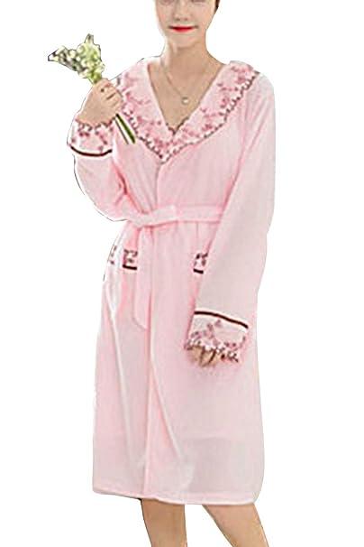 Bata De Dormir para Mujer Batas De Encaje Kimono Albornoz Albornoz 2 Piezas: Amazon.es: Ropa y accesorios