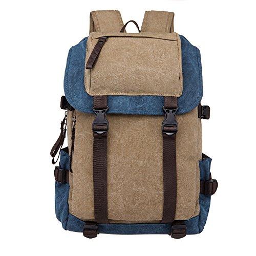 Style Scolaire Bleu À Sac Collège fonction Femme Toile Backpack Loisir Voyages Simple Multi Kakiamp; Dos Minetom AL5Rj4qc3