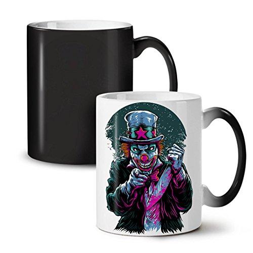Clow Evil Scary Horror Black Colour Changing Tea Coffee Ceramic Mug 11 oz | Wellcoda -