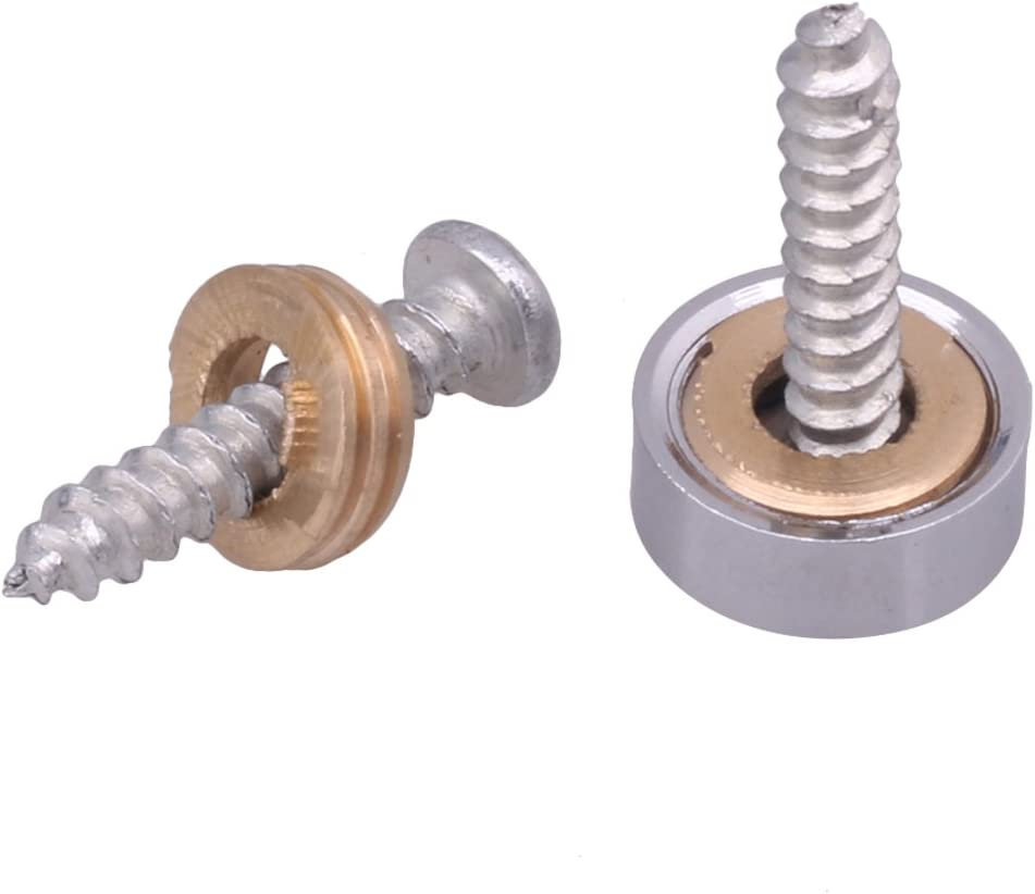 Metall 10 mm Durchmesser 20 St/ück Sourcingmap Spiegeln/ägel silberfarben
