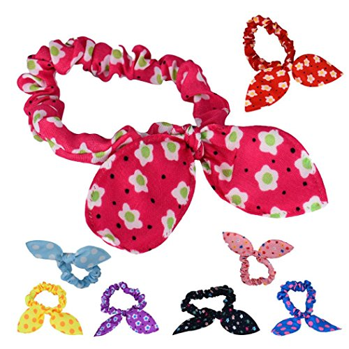 - Lovely Mini Small Bunny Rabbit Ears Headband Hair Rope Rubber Bands Baby (Random Color)