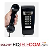 Industrial Wall Phone with Dialpad & Wallplate - BLACK by HQTelecom