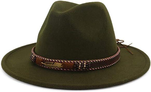 Chapeau Fedora vintage en feutre avec boucle