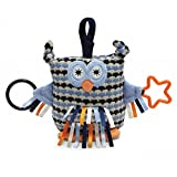 """Jellycat Blue Toot Owl Activity Toy - 6"""""""