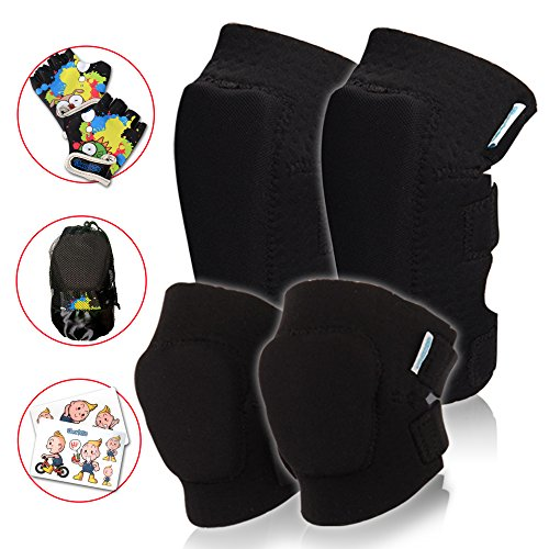 - Kids Protective Gear Set | Toddler Knee and Elbow Pads Plus Bike Gloves | for Roller Skating, Cycling, Bike, Rollerblading, Scooter, Skateboarding, Bicycle, Inline Skating for Child Boys and Girls