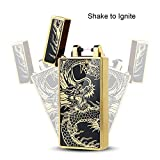 [Flick to Induction] Kivors USB Rechargeable Windproof Flameless Electronic Single Pulse Arc Cigarette Lighter Belief Chinese Dragon Lighter