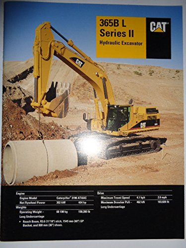- Caterpillar 365B L Series II Hydraulic Excavator Sales Brochure