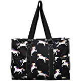 N. Gil All Purpose Organizer 18'' Large Utility Tote Bag 3 (Unicorn Black)