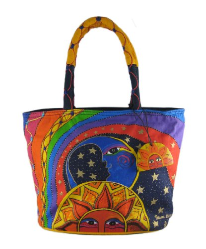 Laurel Burch CELESTIAL JOY Medium Tote Bag Handbag, Bags Central